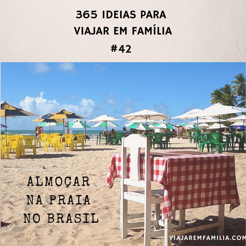 almoçar praia brasil