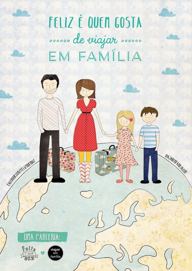 feliz é quem gosta de viajar em familia